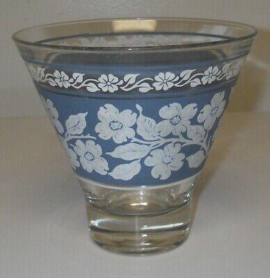Hazel Atlas Wedgewood Blue Jasperware Dogwood Flower Pattern Covered Candy Dish Grease Jar Vogue Shaped