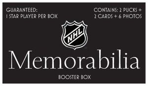 NHL Booster Box | 2 Pucks + 2 Cards + 6 photos | Autographed Hockey Memorabilia