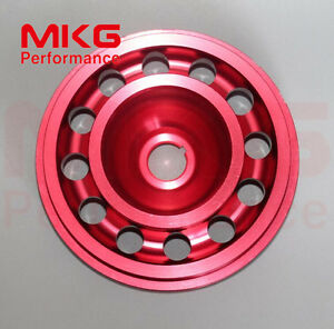 Red-D16-L-Weight-Racing-Crankshaft-Pulley-Underdrive-For-Honda-92-95-Civic-SOHC