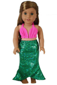 Mermaid-Costume-Outfit-4-American-Girl-Dolls-18-Inch-Doll-Clothes