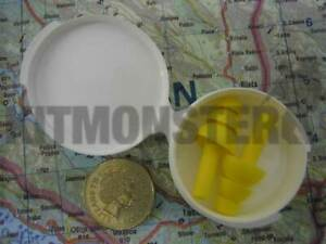 4-x-pairs-of-Ear-Plugs-Military-Issue-in-Case-Yellow-Reusable-EAR-Brand-New