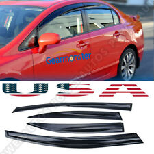 For Honda Civic 4dr 2006 2011 Mugen Window Vent Visor Weather Shield Deflectors Fits 2006 Civic
