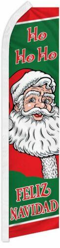 """/""""FELIZ NAVIDAD HO HO HO/"""" super flag swooper banner santa merry christmas"""