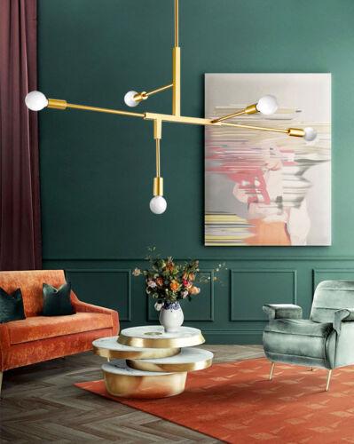 Postmodernisme en laiton Plafonnier Lampe Minimalist Filament Vintage DEL Gold Amorti.