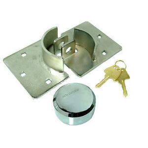 HIGH-SECURITY-73MM-STEEL-PADLOCK-HASP-VAN-DOOR-LOCK-FIXING-KIT-SHED-GARAGE