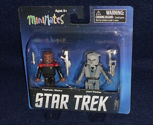 Star Trek Minimate Captain Sisko and Jem/'Hader Figures