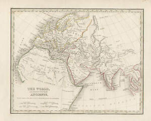 North Africa Europe Map.Details About North Africa Europe Asia Map Vintage 1835 By Bradford Original Antique Map