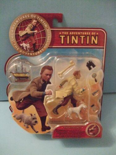 MOVIE FIGURES 2011 ADVENTURES OF TINTIN Tintin /& Snowy movie figures  New