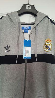 Adidas Originals Real Madrid Full Zip Hoodie Grey | eBay