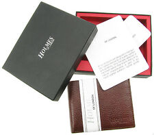 MENS BROWN FULL GRAIN REAL LEATHER BIFOLD WALLET CREDIT CARD HOLDERUK NEW BR232