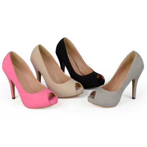 Journee Collection Womens Peep toe Platform Pumps New