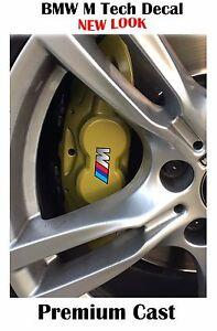 Set Of X BMW M Tech Brake Caliper Decal Sticker New Design Fits - Bmw m brake caliper decals