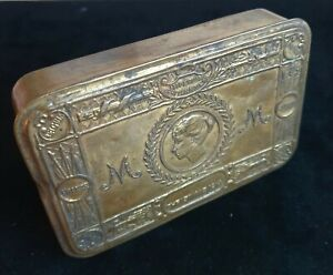 WW-1 Princess Mary Brass Gift Tin for The Troops at The Front - Christmas 1914