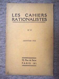 LES-CAHIERS-RATIONALISTES-N-37-1935-ASSEMBLEE-GENERALE-DU-14-JANVIER