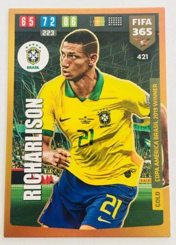 Brasil 2020 PANINI FIFA 365 Gold Copa America BRASIL 2019 Gagnant