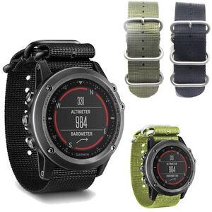 nylon strap 5 ring replacement watch band for garmin fenix 3 smart watch strap ebay. Black Bedroom Furniture Sets. Home Design Ideas