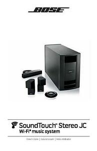 bose soundtouch stereo jc wi fi music system owners manual user rh ebay com sg bose soundtouch 10 user guide Bose SoundDock for iPod