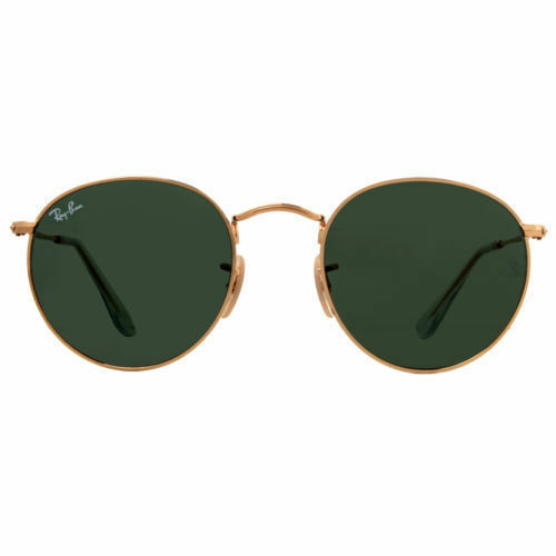 d823880dee Ray-Ban 47mm Round Metal Crystal Green Sunglasses (RB344700147) for ...