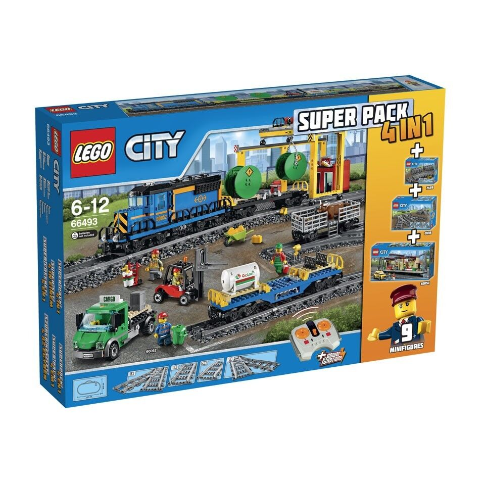 LEGO® City 66493 City 4in1 Güterzug Superpack NEU NEW 60052 60050 7895 7499