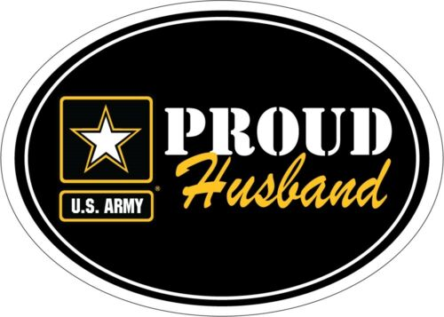U.S. Army Proud Husband USA Military Oval Car Refrigerator Magnet