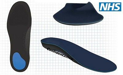 Medical Orthotic insoles with Great Arch support Heel Pad Cushioning Dual Layers