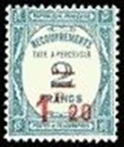 FRANCE-STAMP-TIMBRE-TAXE-64-034-RECOUVREMENT-1F-20s-2F-BLEU-034-NEUF-xx-TTB