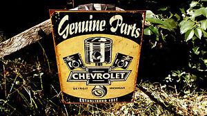 Chevrolet-Chevy-GM-Parts-Tin-Automotive-Garage-Wall-Decor-Advertising-Shop-Sign