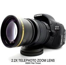 NEW 2.2X Telephoto Zoom Lens for Canon Eos Rebel T6i T3i T4i T5i SL1 T5 XTi XSi