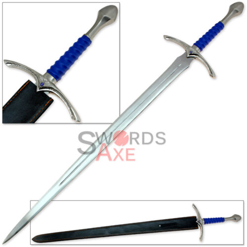 Lord of the Rings Gray Wizard Elvish Steel Forged Replica Sword Medieval Cosplay