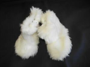 FITS-AMERICAN-GIRL-18-034-DOLL-WINTER-WHITE-PLUSH-FUZZY-ZIP-UP-BOOTS-EUC