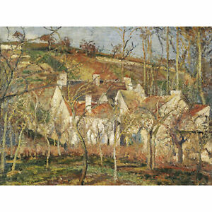 Pissarro Red Roofs Corner Of A Village Winter Large Canvas