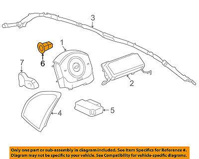 GM OEM Airbag Air Bag SRS-Front Impact Sensor 15297468