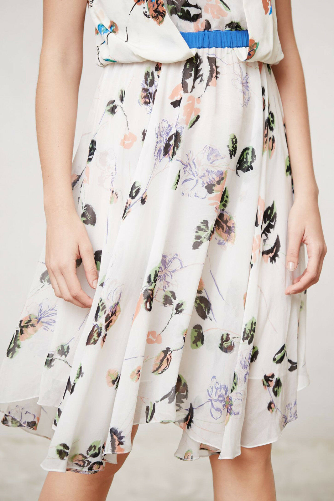 San San San & Soni Draped Wildflower Dress Small, Medium Multi-colors NW ANTHROPOLOGIE T 68585b