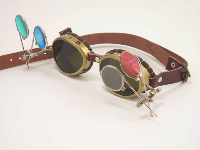 Steampunk Goggles Mad Scientist Steam Punk Glasses Sunglasses Cosplay LARP
