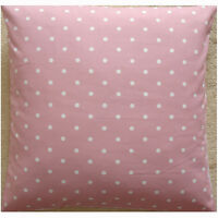 """24"""" Large Floor Pillow Cushion Cover Pink White Polka Dots Spots Dotty Spot"""