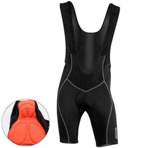 Mens Bicycle Bib Shorts Outdoor Wear Mesh Cycling Tights Gel Padded Riding Pants