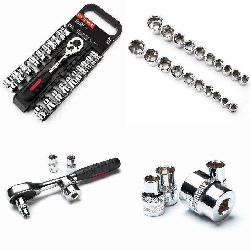 Maxpower 21Pcs 3/8-Inch Ratcheting Socket Wrench Set -