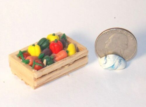 Dollhouse Miniature Wood Crate Fresh Vegetables 1:12 scale H146 Dollys Gallery