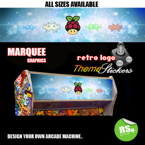 Retropie Arcade Artwork  Marquee Stickers Graphic / Laminated All Sizes