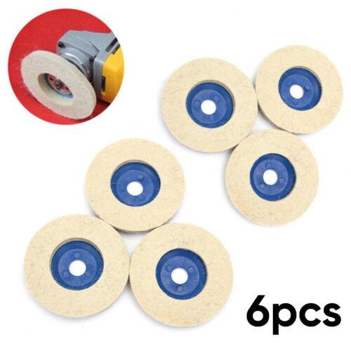 6* 100mm Wool Buffing Polishing Wheel Felt Pad 4Inch Angle Grinder Buffer Disc A