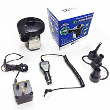 Rechargeable Electric Air Pump 240v+12v Fast Inflator For Air Bed Mattress +Toys