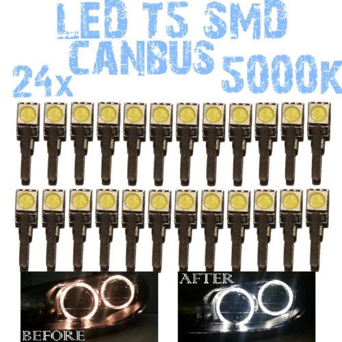 N° 24 LED T5 5000K CANBUS SMD 5050 lampe Angel Eyes DEPO FK 12v BMW X5 E53 1E2 1