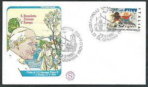 1980 Vaticano Viaggi Del Papa Norcia - Ev