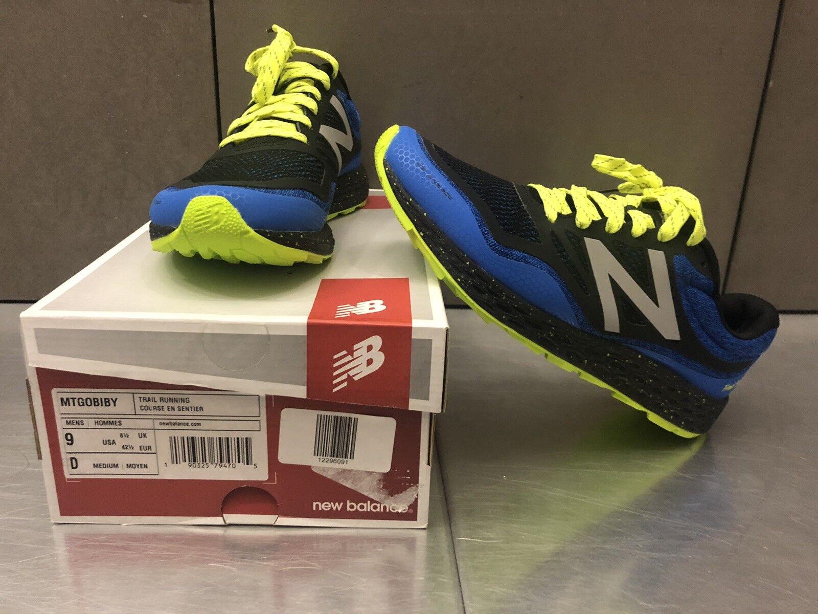 NIB New Balance Men's MTGOBIBY Running zapatos Sz 9.5 free shipping
