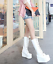 Womens-Punk-Platform-Wedge-High-Heel-Mid-Calf-Goth-Lace-Up-Boots-Round-Toe-Shoes thumbnail 7