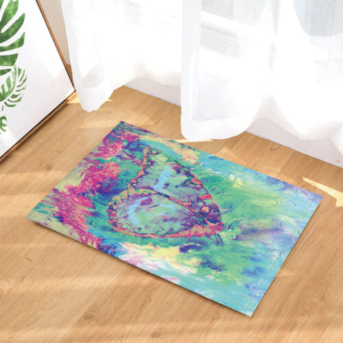 """Abstract Color Butterfly Polyester Fabric Shower Curtain Bathroom With Hooks 71/"""""""
