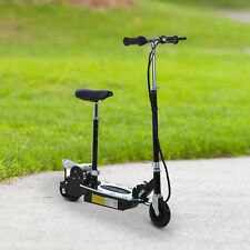 HOMCOM Electric Scooter Kids w/ Brake Kickstand Foldable Black 120W 13km/h