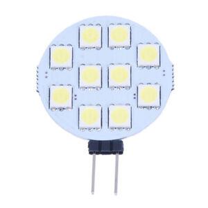 5-X-G4-blanco-puro-10-5050-SMD-LED-Lampara-Marina-Luz-del-punto-de-12V-DC-N8G3