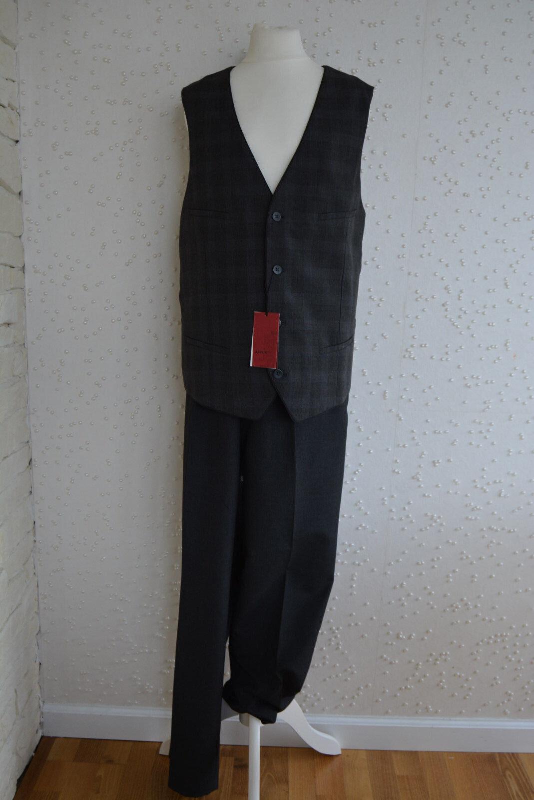 Anzug Weste + Hose Slim Fit von Alfani, Gr. M - 34W 32L, neu