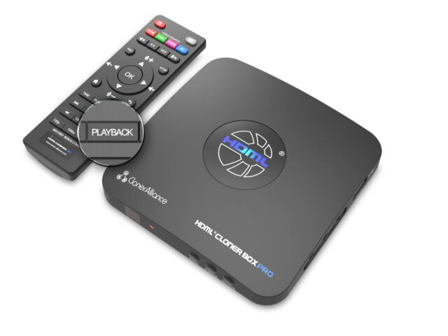 HDML-Cloner Box Pro, capture 1080p HDMI videos/games and play back instantly